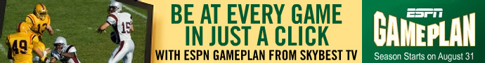 Don't miss your favorite college game again. Call 800-759-2226 to sign up for ESPN GamePlan!